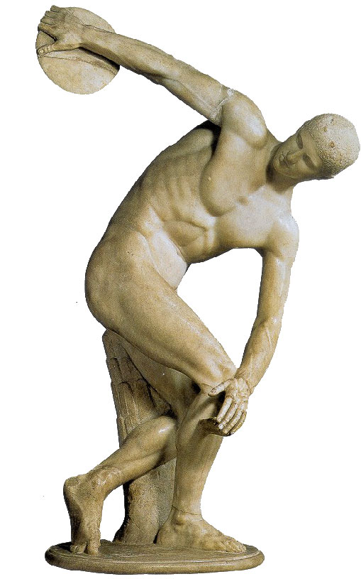 Statua greca del discobolo