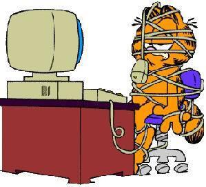 Garfield al computer