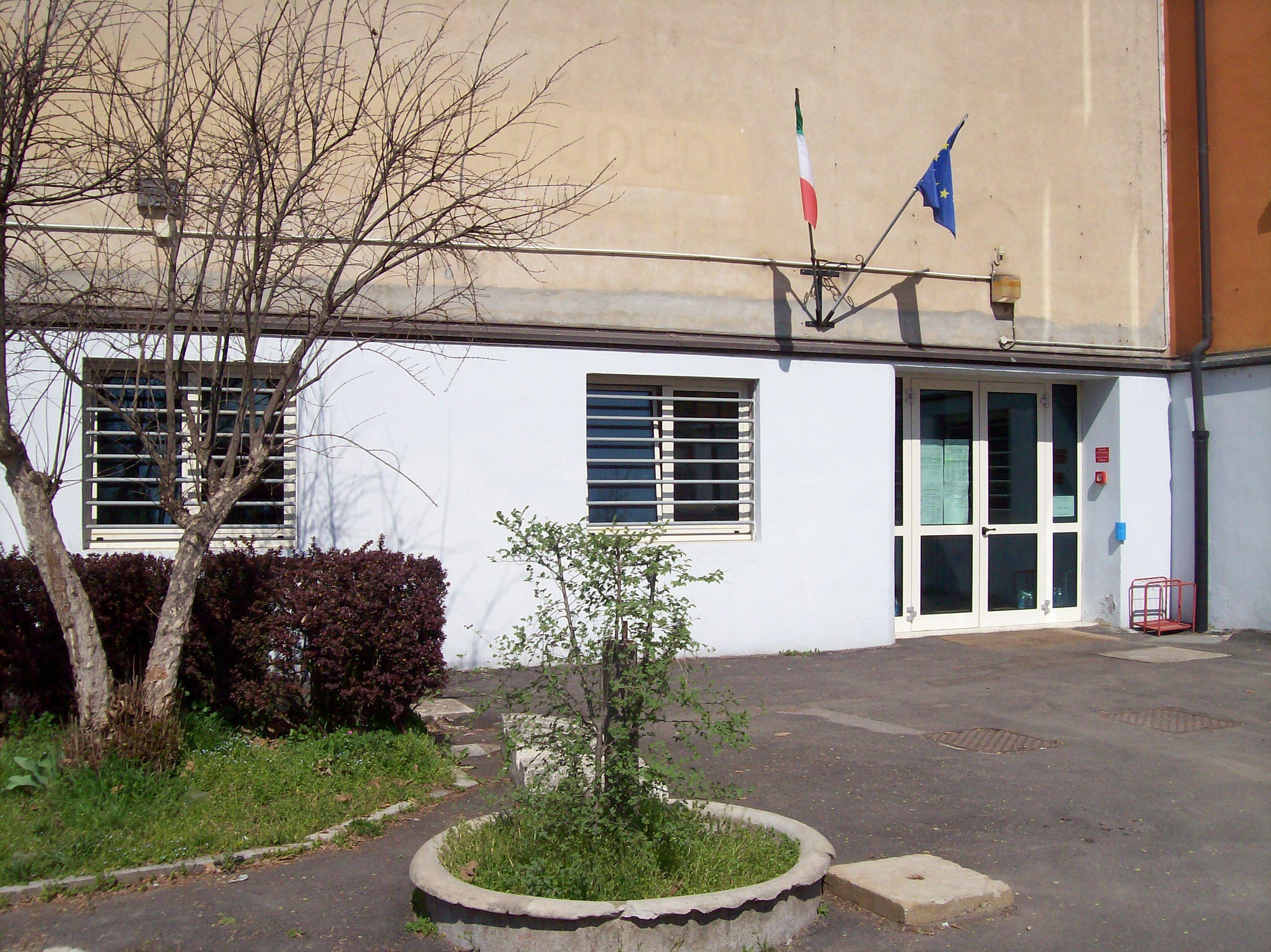 L'ingresso della Scuola dell'Infanzia di Mortara