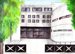 Disegno raffigurante la scuola Secondaria